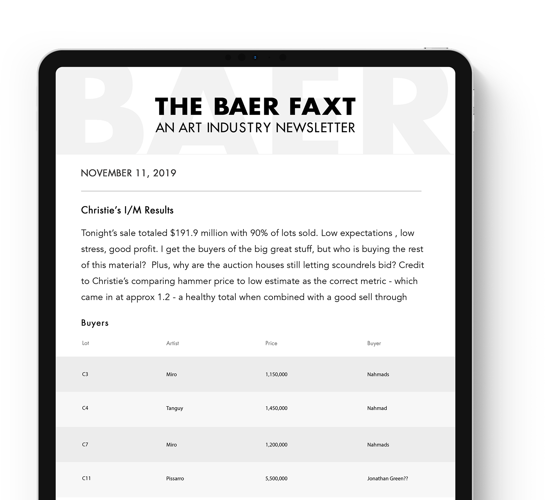 About The Baer Faxt
